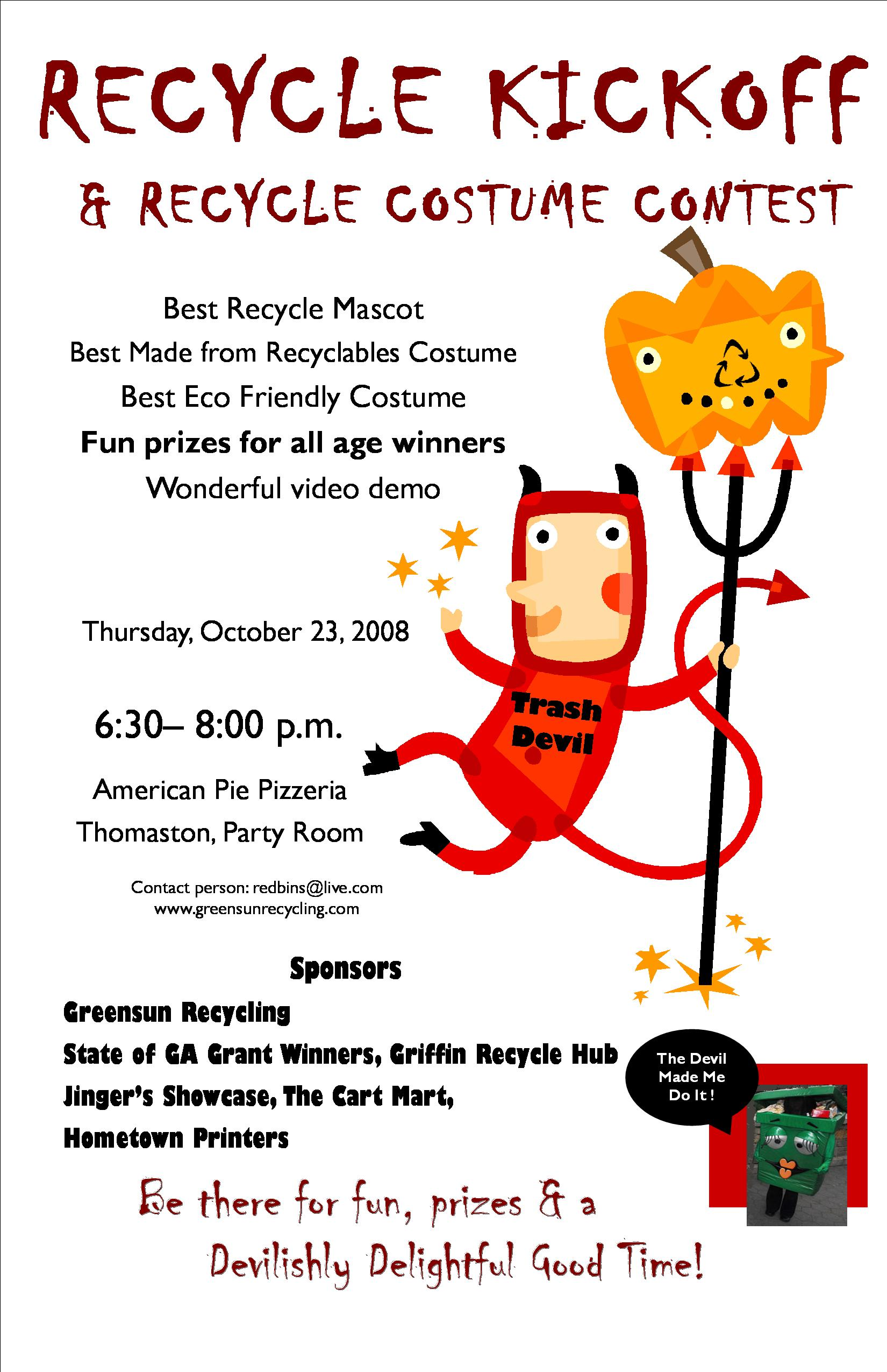 recycle costume contest greensun recycling be bright go green