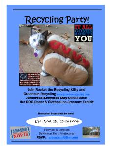Join Greensun For America Recycles Day Hotdog Roast