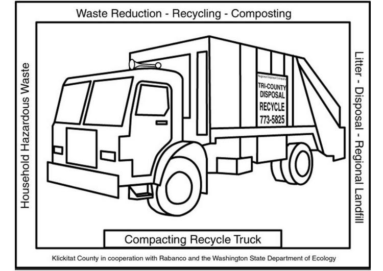 Free Cartoon Garbage Truck Coloring Pages Trash Truck Coloring Pages