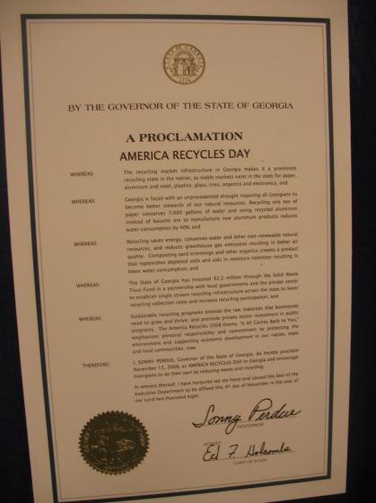 Proclamation at Enviro Expo