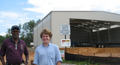 073109 Greensun at soon to open Griffin Recycle Hub.